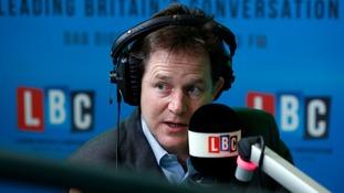 "Nick Clegg said Mike Hancock's conduct had caused ""huge distress""."
