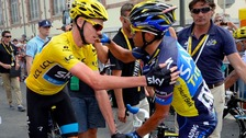 Chris Froome (L) and Alberto Contador (R) are among the favourites for the Yellow Jersey