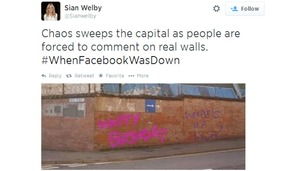 Sian Welby's tweet was one of thousands using the hashtag.