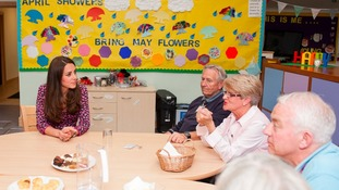 The Duchess of Cambridge meets hospice volunteers
