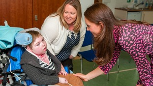 The Duchess meets six year old Charlie Middleton and his mum Cheryl