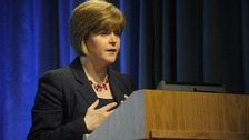 Nicola Sturgeon, the Scottish Health Secretary, 