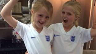 England captain Steven Gerrard has shared a picture of his young daughters with his Instagram followers.