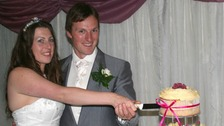 Ben and Catherine Mullany on their wedding day.