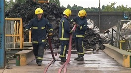 Fire at Northampton car parts recycling plant