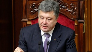 President Petro Poroshenko will call for the creation of a 6.25-mile buffer zone on the border with Russia.