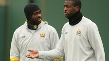 Kolo Toure (left) and Yaya Toure.