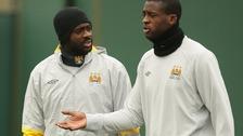 Kolo Toure (left) and Yaya Toure.