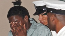 Avie Howell, pictured in 2011, escaped from prison in Antigua yesterday.