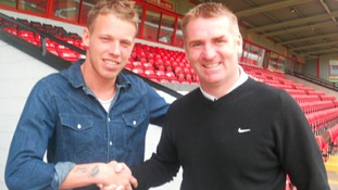 David Grof and Dean Smith at Walsall FC