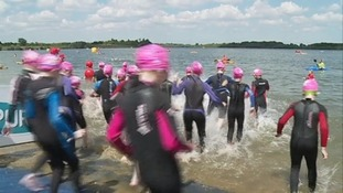 Sun shines on mass Suffolk swim