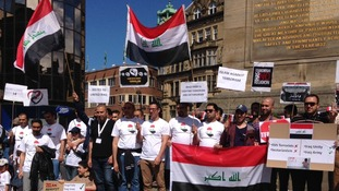 Protest against terrorism by Iraqi students in the North East