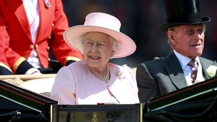 The Queen and the Duke of Edinburgh arrive on Day five of Royal Ascot.