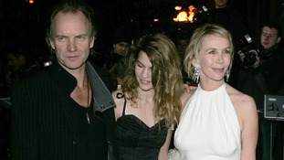 Sting with his daughter Coco and wife Trudie Styler in 2004.