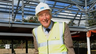 Sir Cadbury at the site of the new hospice in Solihull