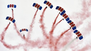 The RAF Falcons display team in 2012.