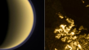 "A mysterious ""magic island"" has appeared out of nowhere in radar images of a hydrocarbon sea on Saturn's giant moon,Titan."