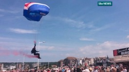 RAF parachutist collides with spectator at air show