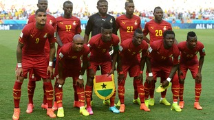 The Ghanaian national side before Saturday's draw with Germany.