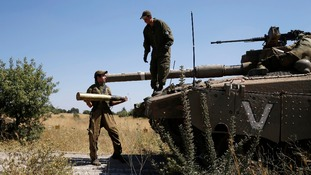 Israeli tanks fired at army positions after a 13-year-old boy was killed.