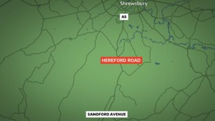 Hereford Road is closed between the A5 junction and Sandford Avenue