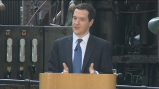 Chancellor George Osborne gives his keynote speech in Manchester.