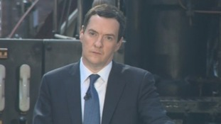 Chancellor George Osborne speaking in Manchester earlier.