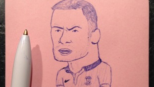 Wayne Rooney is pictured here in this doodle