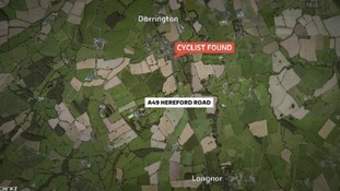 This is where the cyclist was found following the crash