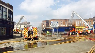 The fire has forced the closure of the A50