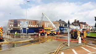Factory fire in Staffordshire