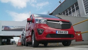 A new Vivaro outside Vauxhall's Luton factory