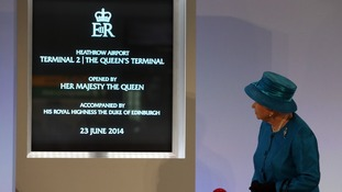 VIP guest missing as the Queen opens Heathrow Terminal 2