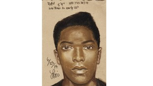 Houstin Police released this sketch of the suspect on Facebook.