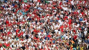 England fans in Brazil.