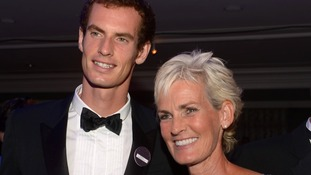 Judy Murray pictured with her son Andy on a night out together last year.