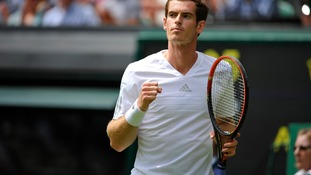 British number 1 Andy Murray plays in his first match at Wimbledon.