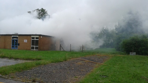 Fire damages school