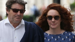Rebekah and Charlie Brooks, who have both been cleared of all charges in the phone hacking trial.