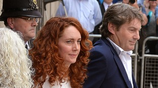 Rebekah Brooks and her husband Charlie Brooks leaving the Old Bailey.