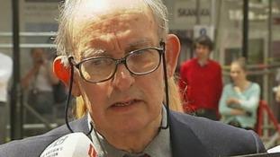 Former News of the World managing editor Stuart Kuttner outside the Court.