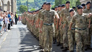 Blue skies in Bath as soldiers are welcomed home