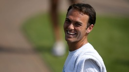 Ross Hutchins on his return to the Wimbledon courts
