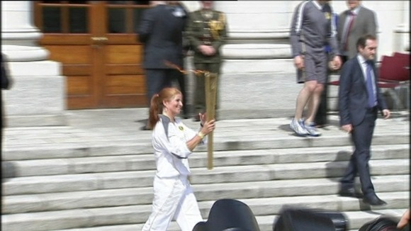 Belfast celebrates the Olympic torch