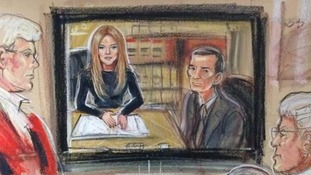 Sienna Miller gave evidence at the phone hacking trial via videolink from New Orleans.