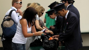 Bag searches are now commonplace at Wimbledon.