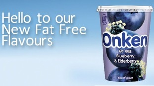 Onken's Blueberry and Elderberry yoghurt has no fat, but quite a few sugars.