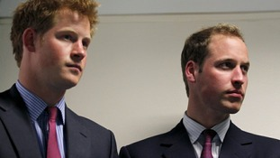 Prince Harry and William Euro 2012