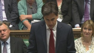 Labour leader Ed Miliband at Prime Minister's Questions.