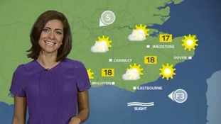 Meridian East: Dry with sunny spells